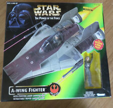 Star Wars POTF A-Wing Fighter: 1997 Kenner Brand New Factory Sealed Good Box