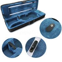 4/4 Size Violin Case Oxford Fabric Black Triangle Shape Box Portable Carry