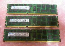Samsung M393B1K70CH0-YH9 24GB (3x8GB) 2Rx4 PC3-10600 DDR3 ECC 240P CL9  Memory