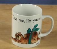 FABRIZIO Vintage Bear Coffee Mug Cup Humor George Good Japan Funny