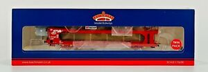 BACHMANN 00 GAUGE - 38-250 - IPA TWIN DOUBLE DECK CAR TRANSPORTER STVA RED BOXED