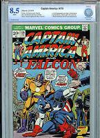 Captain America & Falcon #170 CBCS 8.5 VF+ 1974 Marvel Comics New Falcon costume
