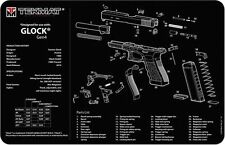 GLOCK GEN 4 SELF LOADING PISTOL GUNSMITH DISASSEMBLY & CLEANING TEKMAT MOUSE MAT