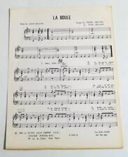 Partition vintage sheet music FLAMBEURS / CLAUDE ABHISSIRA : La Boule * 80's