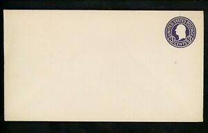 US Postal Stationery U436b Mint Envelope Entire 3c Dark Violet on White Die 5