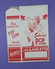 Original c1950's Unused Majorette Popcorn Box