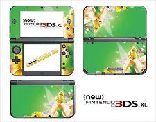 SKIN STICKER AUTOCOLLANT - NINTENDO NEW 3DS XL -  REF 70 TINKERBELL