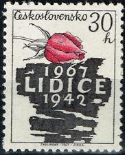 Czech WW2 Nazi 1942 destruction of Lidice stamp