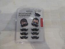 Set of 8 Magnificent Mustache Pushpins Nip Us Seller