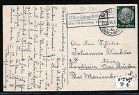 902498) DR   DDR Landpost Ra2 Oberschmiedeberg über Marienberg Sachsen Kt 1936