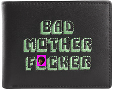 Officially Licensed Bad Mother F*cker  PULP FICTION Leather Wallet Green