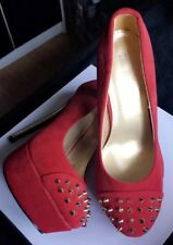 Red Platform Court Shoes 5 New