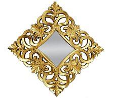 Miroir mural 100x100 carré Baroque en or Ornement miroir wow WOE