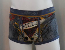 Ed Hardy Men's Love Kills Slowly Premium Cotton Stretch Trunks Blue Size XL New