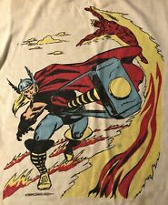 Vintage 1977 Marvel Comics T-shirt with Thor and the Human Torch