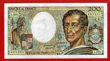 ( Ref: L 051 B) 200 FRANCS MONTESQUIEU 1987 NEUF