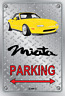 Parking Sign Metal Mazda MX5 Yellow Enki - Checkerplate Look