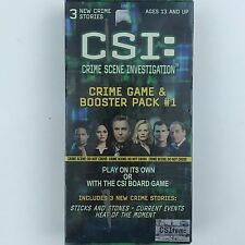 CSI Crime Scene Investigation Game and Booster Pack