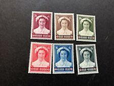 belgium stamps scott b532-b537 mnhog scv 65.00 a1029