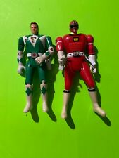 Power Rangers 2 Head  Flipping Green And Red Ranger