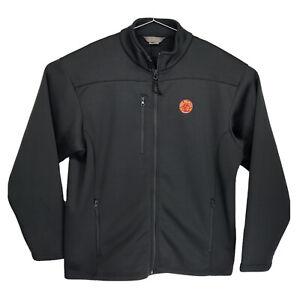 Mens XL New Belgium Brewing Grey Full Zip Soft Shell Sweatshirt 3 Zipper Pockets