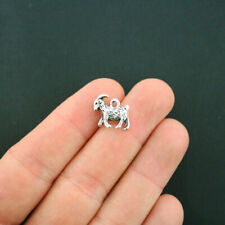 8 Goat Charms Antique Silver Tone 3D Mountain Goat - SC5554