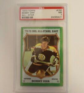 1973 Topps Hockey Card #150 Bobby Orr Boston Bruins PSA 7