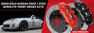"Wilwood AERO6 Big Brake Front Brake Kit,fits 09-13 Nissan 370Z,14""Drilled Rotors"