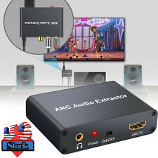 HDMI ARC Audio Adapter Digital - Analog SPDIF Converter Extractor with USB Cable