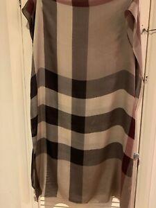 Burberry Nova Check Large Silk Scarf