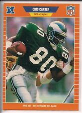 Cris Carter 1989 Pro Set Rookie RC #314