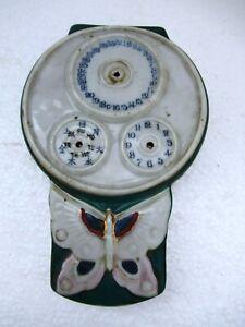 """Vintage Wall Clock Flower Vase Porcelain Japan Wall Mount Signed flower Pot """"F3"""