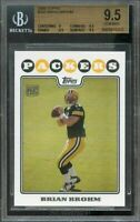2008 topps #332 BRIAN BROHM rookie BGS 9.5