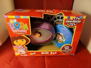 Dora The Explorer View-master Gift Set 3d viewer 3 reels storage case new