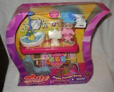 #7115 NRFB Hasbro Trollz Pretty Powder Room Trollz Pad with Doll