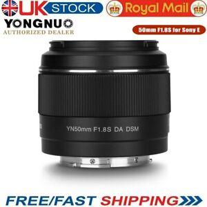 YONGNUO YN50mm F1.8S F1.8 S 50mm Standard Lens For Sony A6600 A6500 A6400 A7 50