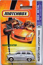 MATCHBOX 2008 MBX METAL AUSTIN FX4 LONDON TAXI #35 SILVER W+