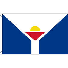 Saint Martin Flag 5Ft X 3Ft Caribbean Island National Banner With 2 Eyelets New