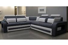 Design Canapé D'Angle pour Dormir Lit Cuir Rembourrage Tissu Canapés Neuf