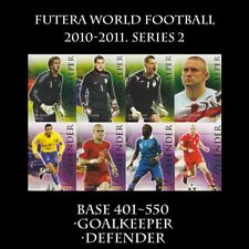 Futera World Football 2010-2011. SOCCER Series 2 BASE CARD Goalkeeper 401-450