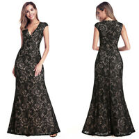 Ever-Pretty US Holiday Pageant Gown Long Mermaid V-neck Lace Formal Dress 00940