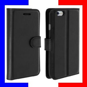 Sony Samsung Huawei Xiaomi iPhone Etui Coque portefeuille housse protection Noir