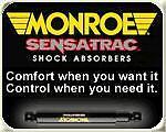 MONROE 4 SENSATRAC SHOCKS DODGE CARAVAN AWD 00 to 07
