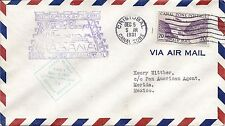 First Flight Cover Ffc Fam 5 - Cristobal, Canal Zone to Merida, Mexico 1931