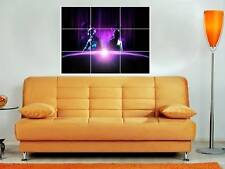 "DAFT PUNK HUGE 35X25"" MOSAIC MONTAGE WALL POSTER N5 NEW"