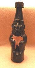 Vintage LIMA PERU Black Glass Ranuzzi Statue BOTTLE Inca Figurine