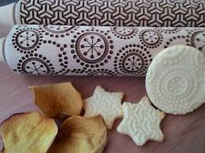 Rolling Pin Laser Cut embossed Set of two Stylish Rolling Pins