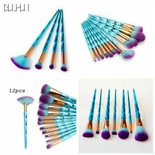 Green Diamond Unicorn Makeup Brushes Foundation Powder Blush Brush 12Pcs/Set
