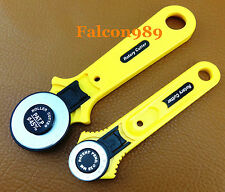 2pc28/45mm Rotary Cutter Cutting Knife F Vinyl Fabric Leather Craft Tool Kit Set