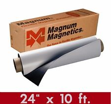 """Magnum Mag 24"""" x 10Ft ROLL 30 Mil. White Magnetic Sign Sheet Cars / Crafts"""